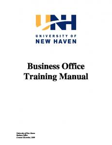 Business Office. Training Manual