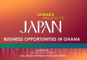 BUSINESS OPPORTUNITIES IN GHANA