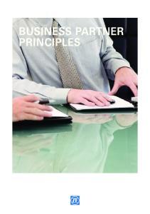 BUSINESS PARTNER PRINCIPLES