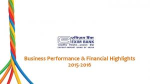 Business Performance & Financial Highlights