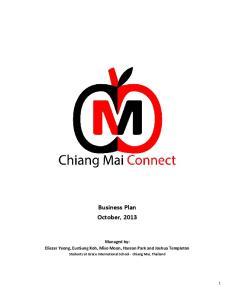 Business Plan October, 2013