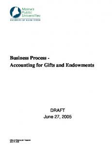 Business Process - Accounting for Gifts and Endowments