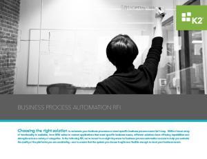BUSINESS PROCESS AUTOMATION RFI