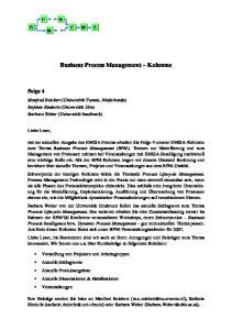 Business Process Management Kolumne