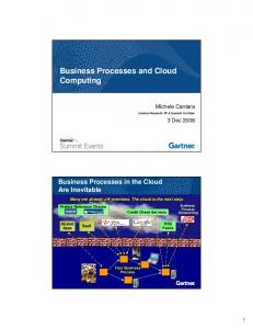Business Processes and Cloud Computing