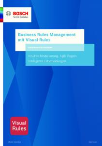 Business Rules Management mit Visual Rules