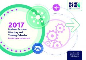 Business Services Directory and Training Calendar. Everything your business needs
