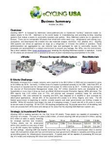 Business Summary October 14, 2011