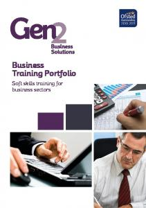 Business Training Portfolio. Soft skills training for business sectors
