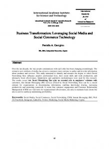 Business Transformation: Leveraging Social Media and Social Commerce Technology