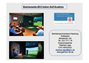 Businessplan BSV Indoor Golf Academy