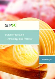 Butter Production - Technology and Process