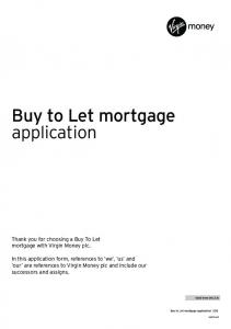 Buy to Let mortgage application