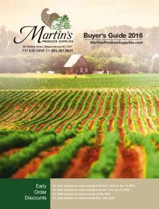 Buyer s Guide 2016 MartinsProduceSupplies.com