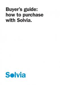 Buyer s guide: how to purchase with Solvia
