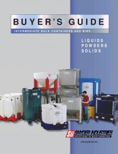 BUYER S GUIDE SNYDER INDUSTRIES LIQUIDS POWDERS SOLIDS INTERMEDIATE BULK CONTAINERS AND BINS