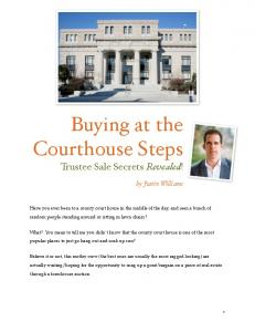 Buying at the Courthouse Steps