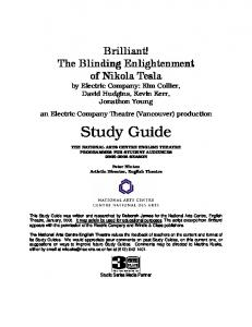 by Electric Company: Kim Collier, David Hudgins, Kevin Kerr, Jonathon Young an Electric Company Theatre (Vancouver) production Study Guide