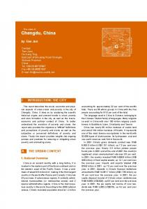by Tian Jun INTRODUCTION: THE CITY A. THE URBAN CONTEXT 1. National Overview