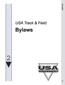 BYLAWS. USA Track & Field. Bylaws