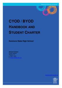 BYOD HANDBOOK AND STUDENT CHARTER