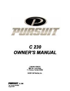 C 230 OWNER S MANUAL