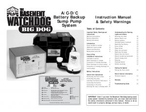 C Battery Backup Sump Pump System