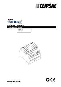 C-Bus DALI Interface Programming Guide