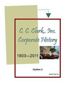 C. C. Clark,, Inc. Corporate History