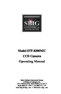 C CCD Camera Operating Manual