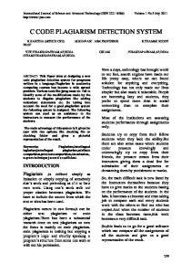 C CODE PLAGIARISM DETECTION SYSTEM