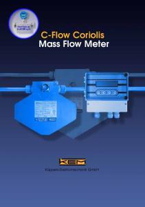 C-Flow Coriolis Mass Flow Meter
