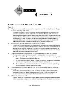 C h a p t e r 4 ELASTICITY
