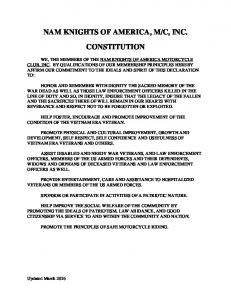 C, INC. CONSTITUTION