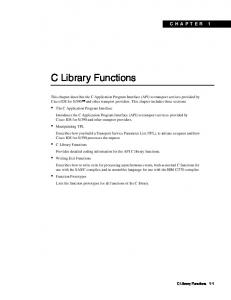 C Library Functions CHAPTER