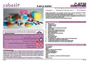 C Luz y color. Contenido del kit