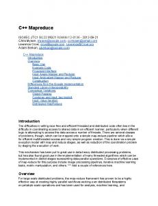 C++ Mapreduce. Introduction. Overview