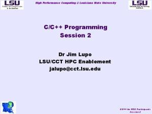 C++ Programming. Session 2