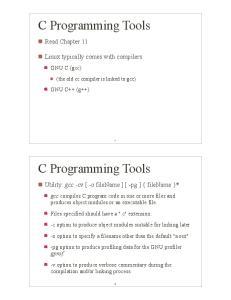 C Programming Tools. C Programming Tools