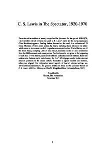 C. S. Lewis in The Spectator,