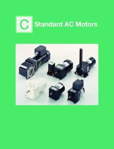 C Standard AC Motors