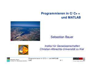 C++ und MATLAB