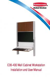 C Wall Cabinet Workstation Installation and User Manual