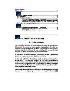 C1. Matriz de entidades