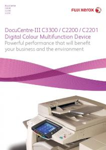 C2201 Digital Colour Multifunction Device