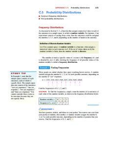 C.5 Probability Distributions