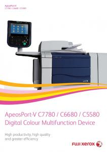 C5580. Digital Colour Multifunction Device. High productivity, high quality and greater efficiency