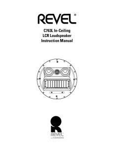 C763L In-Ceiling LCR Loudspeaker Instruction Manual