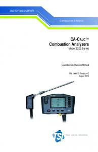 CA-CALC Combustion Analyzers Model 6203 Series