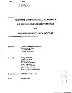 CA CHE COUNTY AIRPORT